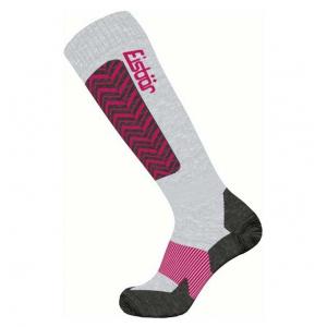 Eisbär lyžařské ponožky - šedo/růžové
