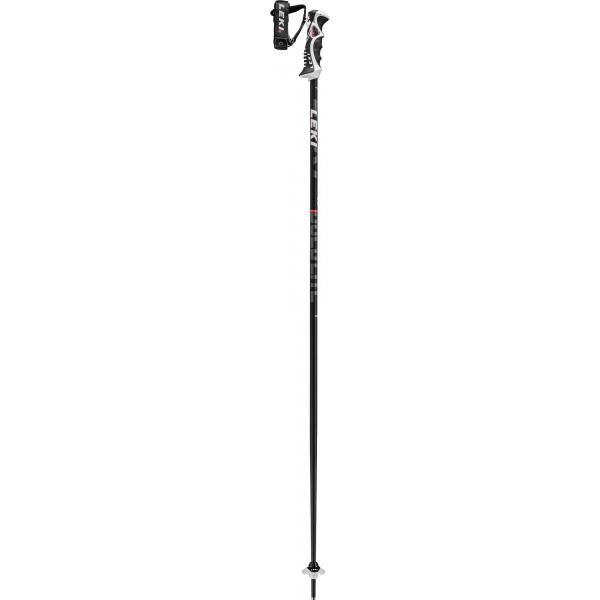 Leki Bold Lite S, black-fluorescent red-white,20/21